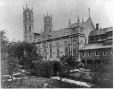 MP-0000.10.167   Notre Dame Church from Seminary garden, Montreal, QC, about 1870   Print   Alexander Henderson     