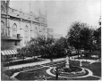 MP-0000.10.168   Notre Dame Church from Seminary garden, Montreal, QC, about 1870   Print   Alexander Henderson     