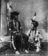 MP-0000.14.196 | Deligalugaseitsa and Sepistopota, Sarcee, near Calgary, AB, about 1885 | Photograph | William Hanson Boorne |  |