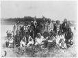 MP-0000.53 | Aboriginal group, File Hill Indian Reservation, 85 miles N. E. of Regina, SK, about 1900 | Photograph | H. Pollard |  |