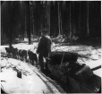 MP-0000.103.32 | Miner and dog team, Bonanza Creek, YT, 1898 | Photograph | Edwin Tappan Adney |  |