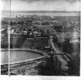 "MP-0000.194.6 | Montreal from ""Ravenscrag"" showing McTavish Street and the Reservoir, QC, panorama, 1869 