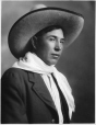 MP-0000.328.4 | Man with cowboy hat and scarf, Blood, Calgary, AB, about 1925 | Photograph | H. Pollard |  |