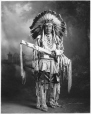 MP-0000.328.6 | Chief Duck in hunting costume, Blackfoot, Calgary, AB, about 1925 | Photograph | H. Pollard |  |