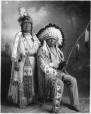 MP-0000.328.9 | Chief White Wings and wife, Blood, Calgary, AB, about 1925 | Photograph | H. Pollard |  |