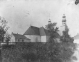 MP-0000.329.3 | Back of church at St. Eustache(?), QC, about 1895 | Photograph | Anonyme - Anonymous |  |