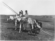 MP-0000.338.3 | Plains Indian family with travois and horses, near Calgary(?), AB, about 1925 | Photograph | H. Pollard |  |