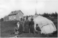 MP-0000.361.19 | Innu group in front of tent, Mingan, QC, 1920 | Photograph | George R. Lighthall |  |
