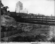 MP-0000.587.129 | Construction of bridge over CN railway, Dorchester St., Montreal, QC, 1930 ? | Photograph | Anonyme - Anonymous |  |