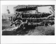 MP-0000.597.63 | Man and dog, dead ducks lined up on automobile, 1920-27 | Photograph | Captain George E. Mack |  |