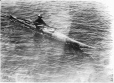 MP-0000.597.165 | Man in Kayak, about 1919 | Photograph | Captain George E. Mack |  |