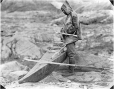MP-0000.597.166 | Man with hunting equipment including harpoon and kayak, about 1919 | Photograph | Captain George E. Mack |  |