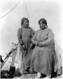 MP-0000.597.175 | Two women (Innu or Inuit ?) in front of canvas tent, 1917-27 | Photograph | Captain George E. Mack |  |