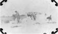 MP-0000.597.465 | Our igloo destroyed by melting and falling in, 1917(?) | Photograph | Captain George E. Mack |  |