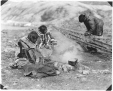 MP-0000.597.527 | Inuit group making a kayak, about 1919 | Photograph | Captain George E. Mack |  |