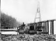 MP-0000.600.79 | Pile scow at Sicamous Narrows, BC, 1885 | Photograph | Charles MacMunn |  |