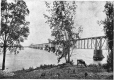 MP-0000.892.6   View of the C. P. R. bridge at Lachine, QC, about 1910   Print   Anonyme - Anonymous     
