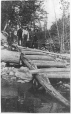 MP-0000.979.10   Old Indian portage between Lac Chapleau and Lac des Mauve, QC, about 1910   Print   Anonyme - Anonymous     