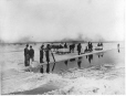 MP-0000.1468.38 | Cutting ice, St. Lawrence River near Victoria Bridge, Montreal, QC, about 1870 | Photograph | Alexander Henderson |  |