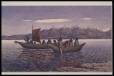 M612 | West Coast natives in canoes with sail, ca. 1863 | Painting | William George Richardson Hind |  |