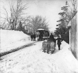 MP-0000.1828.62 | Horse tram on Dorchester Street, Montreal, QC, about 1869 | Photograph | Alexander Henderson |  |