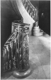 MP-0000.2080.54 | Newel Post, staircase, Chateau Frontenac, Quebec City, QC, 1925(?) | Print | Sydney Jack Hayward |  | 