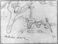 MP-0000.2141.1 | Cephas' map of route to Rock Paintings on Little Missinabie Lake, ON, 1930 | Drawing | Cephas Rattle |  |