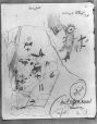 MP-0000.2141.22 | Enlarged detail of A, Fairy Point rock paintings, Lake Missinabie, ON, 1930 | Drawing | Edwin Tappan Adney |  |