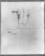 MP-0000.2141.25 | Rock paintings, cave at Fairy Point, Lake Missinabie, ON, 1930 | Drawing | Edwin Tappan Adney |  |