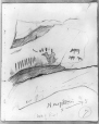 MP-0000.2141.27 | Rock paintings, South of cave, Fairy Point, Lake Missinabie, ON, 1930 | Drawing | Edwin Tappan Adney |  |
