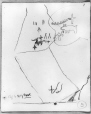 MP-0000.2141.28 | Rock paintings, south-east of cave, Fairy Point, Lake Missinabie, ON, 1930 | Drawing | Edwin Tappan Adney |  |
