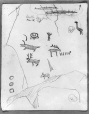 MP-0000.2141.29 | Rock paintings, Fairy Point, Lake Missinabie, ON, 1930 | Drawing | Edwin Tappan Adney |  |