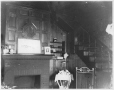 MP-1987.22.3 | Interior with fireplace and stairs, Bishop house, near Cartierville, about 1900 | Photograph | Mr. Bishop (?) |  |