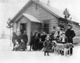MP-0000.2360.71 | Group of children with dog sled, Whitehorse(?), YT, about 1900 | Photograph |  |  |