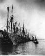 MP-0000.2386 | Reconstructed caravels, 16th C. ships at dock, Montreal harbour, 1893 | Photograph | Samuel H. N. Kennedy |  |