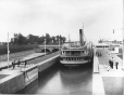 "MP-0000.2401.259 | S. S. ""Caspian"" in locks, Soulanges Canal, QC, about 1900 