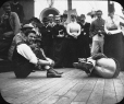 "MP-0000.25.15 | ""Cock fighting"" contest on deck of the Argonaut, about 1883 