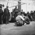 "MP-0000.25.16 | ""Cock fighting"" contest on ship's deck, about 1895 
