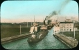 MP-0000.25.66 | Whalebacks in locks, Sault St. Marie, ON, about 1900 | Photograph | Anonyme - Anonymous |  |