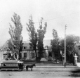 MP-0000.2853 | Horse tram at Chateau de Ramezay, Notre Dame Street, Montreal, QC, about 1870 | Photograph | James George Parks |  |