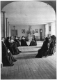 MP-0000.2890 | Community room in the Mother House, Congregation de Notre Dame, Montreal, QC, about 1885 | Photograph | Oliver B. Buell |  |