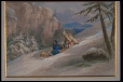 M20397 | An Aboriginal Couple Sliding on Toboggan | Painting | James Duncan (1806-1881) |  |