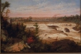 M967.100.1 | The Tubular Bridge at St. Henry's Falls | Painting | Cornelius Krieghoff (1815-1872) |  |