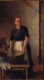 M967.100.22 | Woman with washing board and laundry tub | Painting | Thomas Mower Martin |  |