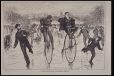 M975.62.72 | A Race on the Ice - Bicycles v. Skates | Print | Anonyme - Anonymous |  |