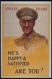 M981.93 | Enlist To-Day. He's Happy &amp; Satified, Are You ? | Poster | O. R. |  | 