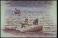 M11443 | Mi'kmaq Canoes | Painting | William George Richardson Hind |  |