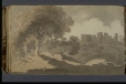 M928.92.1.54 | Trees with Ruin | Painting | George Heriot |  |