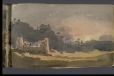 M928.92.1.98 | Landscape with Ruins and Setting Sun | Painting | George Heriot |  |