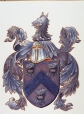 M764 | Armorial Bearings of Major General James Wolfe | Painting | John Charles Alison Heriot |  |